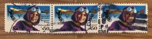 US C128 Used F/VF - Hariet Quimby Pioneer Pilot Airmail (Pair)