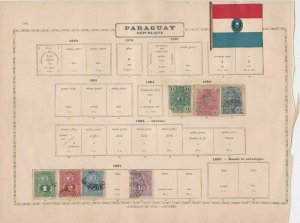bolivia and paraguay stamps  ref 13143