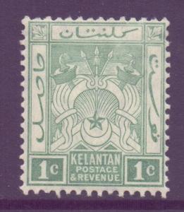 Malaya Kelantan Scott 14 - SG14, 1921 Script CA 1c MH*