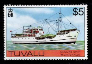 TUVALU Scott 37 MNH** Colony Ship Nivanga top value in 1976 set