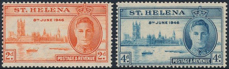 St Helena 1946 Victory Set of 2 SG141-142 MH