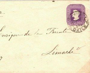 CHILE Cover *Limache* Postal Stationery Envelope 5c 1896 {samwells-covers}SV18