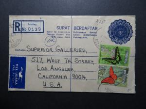 Malaysia 1972 Registered Letter Cover to USA - Z10388