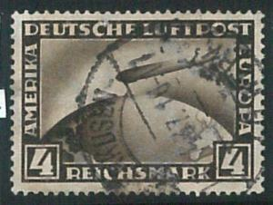 70805 - GERMANY Reich - STAMPS:  Zeppelin 4 Marks - USED