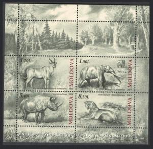 Moldova Mammoth Cave Bear Cave Lion Bison Extinct Fauna MS MI#Block 51