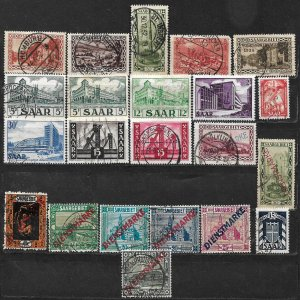COLLECTION LOT OF 22 GERMANY  SAAR 1922+ STAMPS CLEARANCE