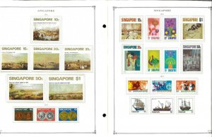 Singapore 1948-2007 MNH, LH in Mounts & Used Hinged on Scott Int. Pages