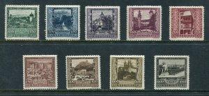 x378 - AUSTRIA 1923 Pictorial SEMI-POSTAL Set of (9). Mint MLH
