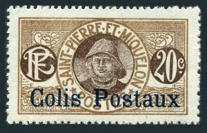 St Pierre & Miquelon Q4.lightly hinged.Michel P4. Parcel Post 1925.Fisherman.