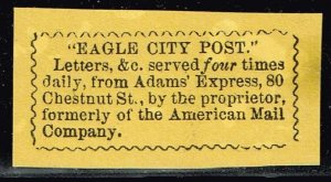 US STAMP LOCAL EAGLE CITY POST UNUSED NG STAMP
