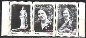 Nevis. 1990. 548-50. Queen mother, dogs. MNH.