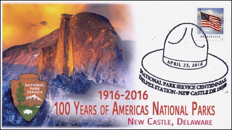 2016, National Park Service, 100 Years, New Castle DE, Yosemite, 16-081