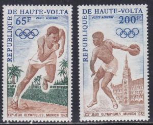 Burkina Faso # C102-103, Munich Olympics, NH, 1/2 Cat.
