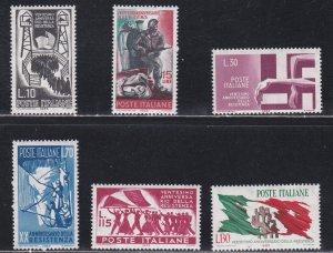 Italy # 903-908, Italian Resistance in World War II, NH