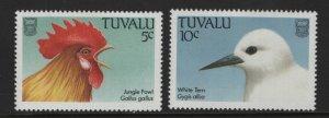 TUVALU, 469-470, MNH, 1988, BIRDS