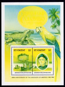 St.Vincent 1986 Sc#936A/B 500th.Anniversary of the Discovery America Color Proof