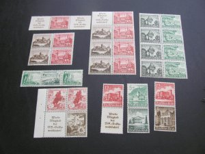 GERMANY 1939-1940 FROM BOOKLETS  LOT (115)