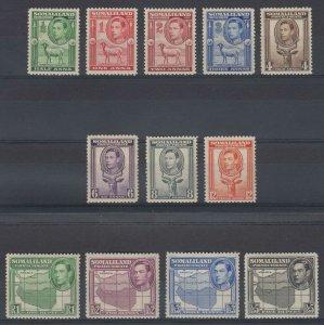 BC SOMALILAND PROTECTORATE 1938 Sc 84-95 FULL SET MNH F,VF SCV$163.90