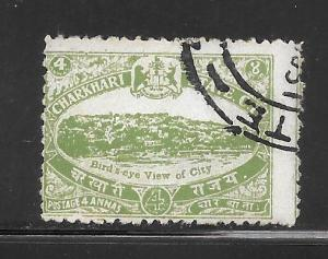 India  Charkhari #31 Used Single