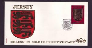 Jersey Sc 933 2000  £10 Coat of Arms stamp FDC