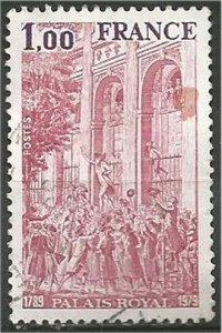 FRANCE, 1979, used  1fr Royal Palace Scott 1649