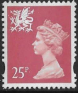 Great Britain-Wales  #WMMH60  25p QE II - Dec 7 1993  (1) Mint NH
