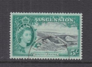 ASCENSION, 1956 QE 5s. Black & Green, used.