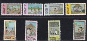 Tokelau # 49-56, Activities, NH, 1/2 Cat.