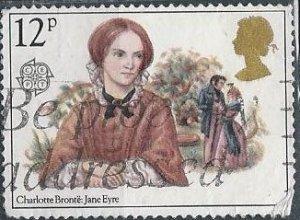 Great Britain 915 (used, frayed corner) 12p Charlotte Brontë (1980)