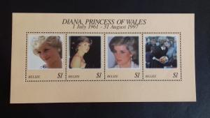 Belize 1998 Diana, Princess of Wales Commemoration  Mint