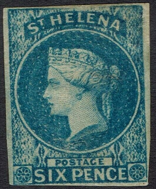ST HELENA 1856 QV 6D IMPERF