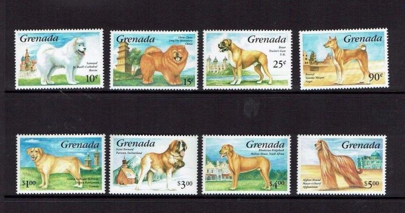 Grenada: 1993, Dogs of the World, MNH set