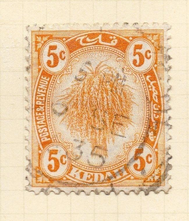 Kedah 1922-36 Early Issue Fine Used 5c. 027315
