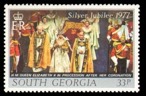 SOUTH GEORGIA #48-50 COMPLETE SET MINT NEVER HINGED