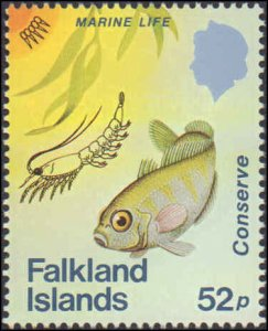 1984 Falkland Islands #412-415, Complete Set(4), Never Hinged
