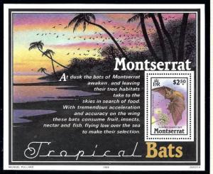 Montserrat 671 MNH 1988 Tropical Bats S/S