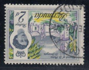 Bermuda, SG 164w, used Watermark Inverted variety