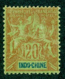 Indo-China #12  Mint  H VF  Scott $10.00