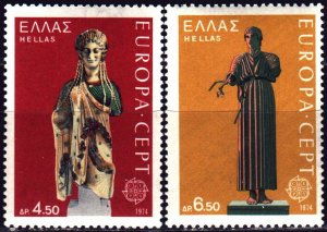 Greece. 1974. 1167-68 from the series. Historical sculptures, europe-sept. MNH.