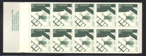 Sweden Sc 763a 1972 Windmills stamp bklt of 10  mint NH