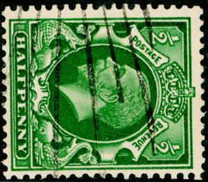 SG439a, ½d green, FINE USED. WMK SIDE