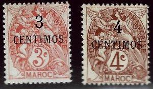 French Morocco Attractive SC#13-14  Mint F-VF.SCV$9.50...Grab a Bargain!