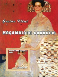 Mozambique 2001 GUSTAV KLIMT Paintings s/s Perforated Mint (NH)