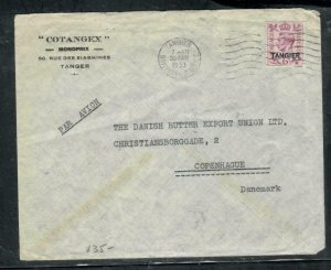 MOROCCO COVER (PP2912B) 1953 KGVI 6D   ON COVER TANGER TO DENMARK