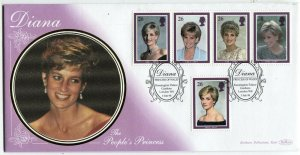 GREAT BRITAIN #1791-1795 Diana Princess of Wales FDC First Day Issue Cover 1998