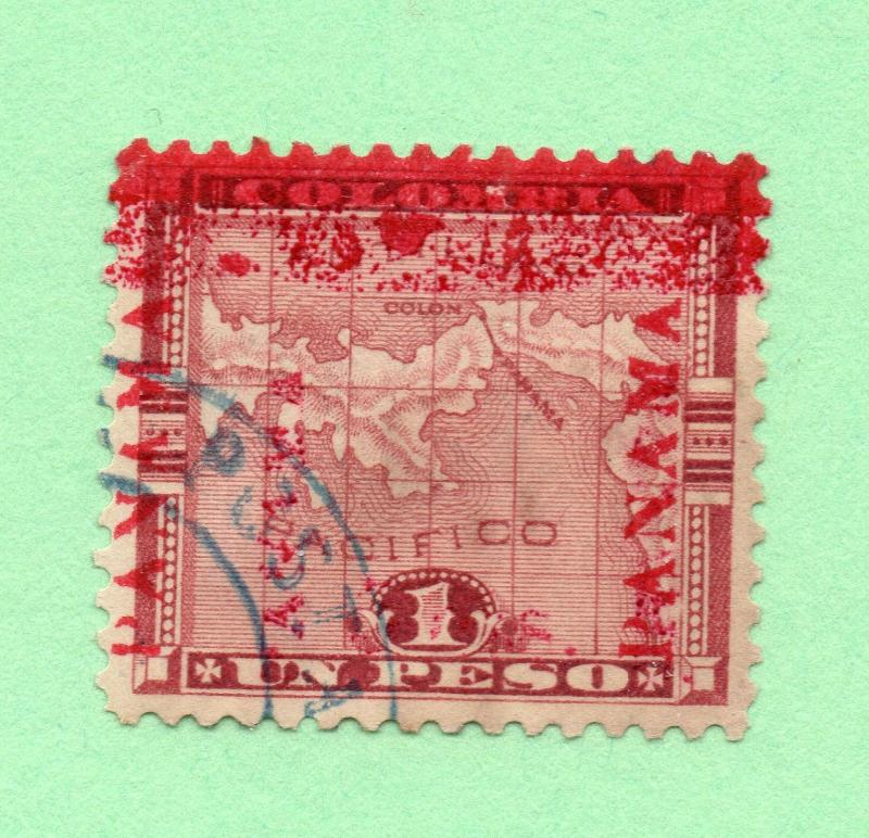 Panama - SC# 82d Used/ Double Ovpt (1) Inverted  -  Lot 0517321