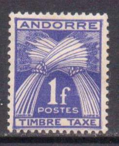 Andorra (Fr.)   #J33  MH  (1946)  c.v. $0.80