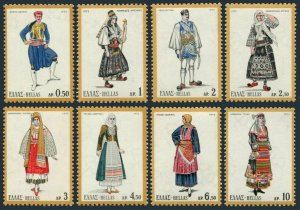 Greece 1038-1045,MNH.Michel 1095-1102. Greek regional costumes,set 1972.