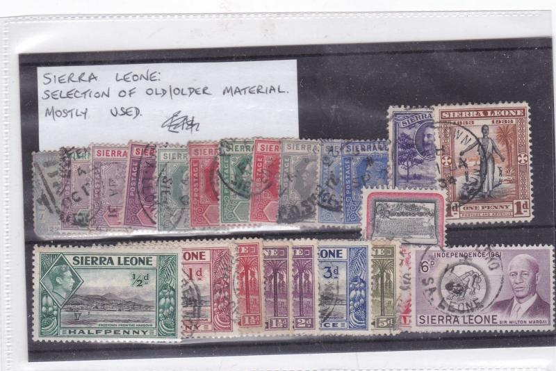 sierra leone used stamps lot Ref 9320