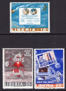 Liberia 499-501 MNH VF